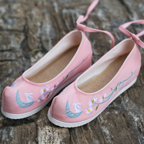 Ancient shoes children Hanfu shoes bow shoes with upturned head