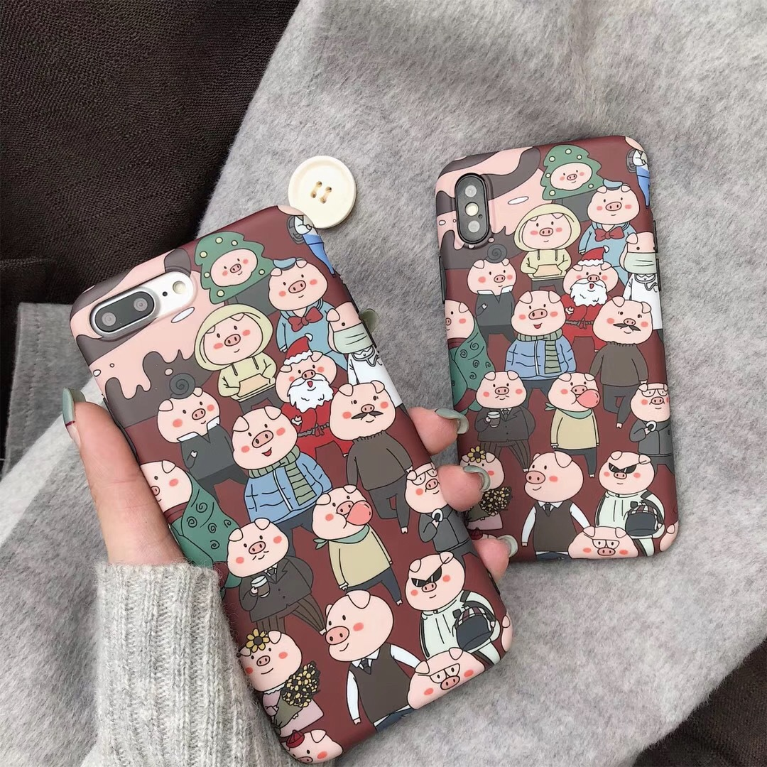 Cartoon pig apple XS Max/XR for mobile phone case iPhone8plus7p/6sp personality cute female models