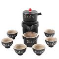 黑陶懶人泡茶半全自動茶具套裝家用出水陶瓷功夫茶杯茶洗茶道