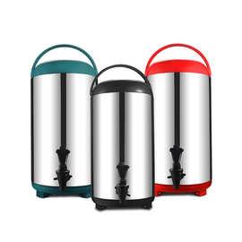 不锈钢奶茶保温桶双层带水龙头咖啡保温保冷商用开水桶8/10/12L升