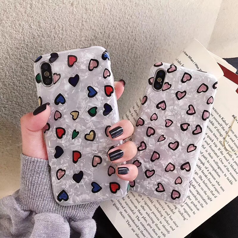 Korean small love for 8plus Apple XS mobile phone shell MAX/XR/iphone6s/7/8plus female models tide