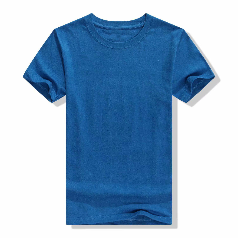 短袖纯色棉t恤来图定制印LOGO男女宽松工作班服diy文化广告衫批发