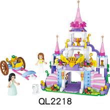 哲高QL2218婕妮公主城堡 女孩系列玩具积木儿童益智拼装拼插