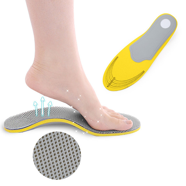 热销款网格足弓垫 扁平足男女矫正鞋垫 内外八字矫形鞋垫 批发
