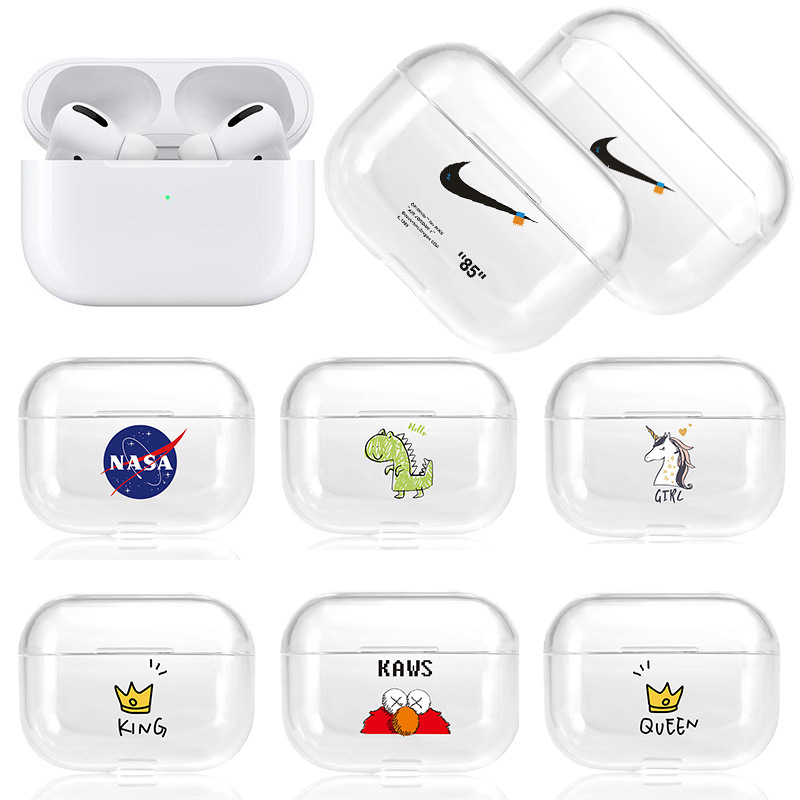 airpods保护套 pro保护壳彩绘卡通耳机壳适用苹果tpu挂钩耳机壳