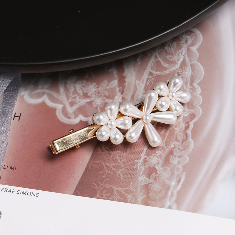 Fashion flower love rhinestone beads hair clip NHJJ133114