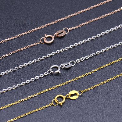 厂家直销十字女士项链 气质扁O链锁骨链多色可选0字加延长链项链