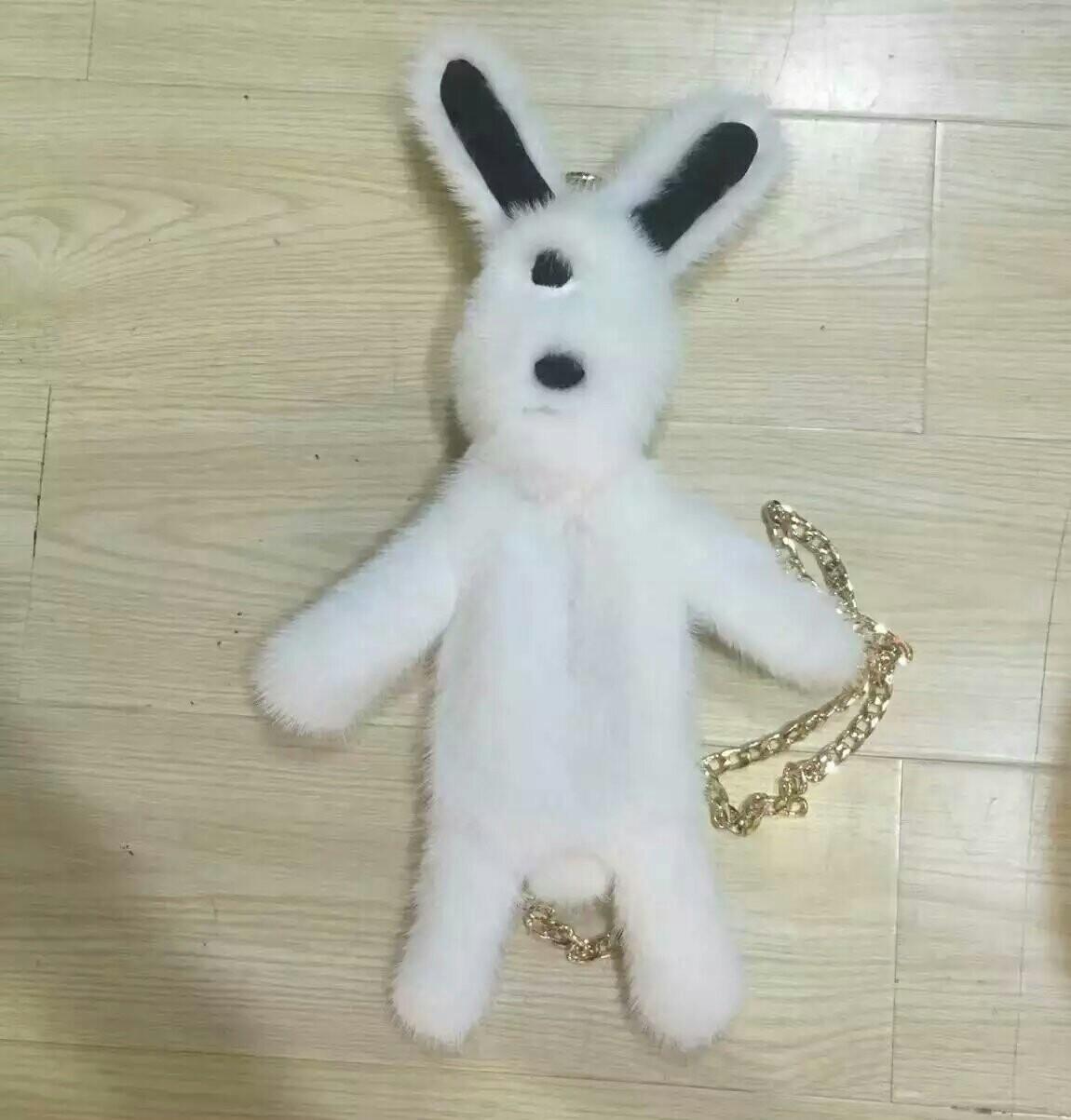 包包女水貂兔子包挎包皮草皮毛裘皮包
