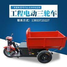工程工地电动三轮车 载重王 电动平板拉砖车水电瓶车翻斗养殖自卸