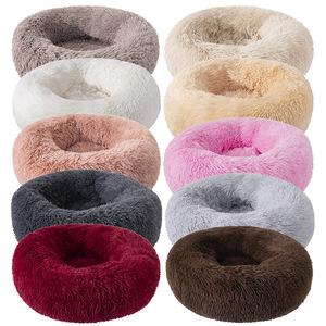 狗窝猫窝长毛绒圆形宠物窝狗床冬季保暖垫子狗垫宠物用品宠物床