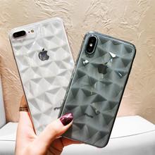苹果XS超薄防摔手机壳oppoR17简约硅胶透明壳适用vivoX23纯色菱形
