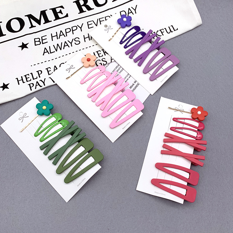 Korean same hair clip candy color hair clip girl small flower edge clip word clip bangs clip headdress NHSA201164
