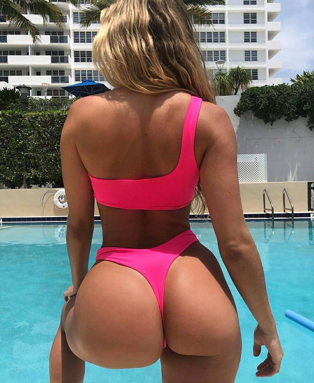 one-shoulder bikini ladies swimsuit fluorescent color bikini NSDA1188