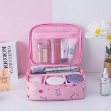 新款化妝包,收納盒旅游裝口妝包包社會包出門護膚品收納小型立體
