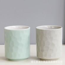 库存尾货清仓处理创意陶瓷茶杯随手杯洗漱杯牙刷杯无把手家用水杯