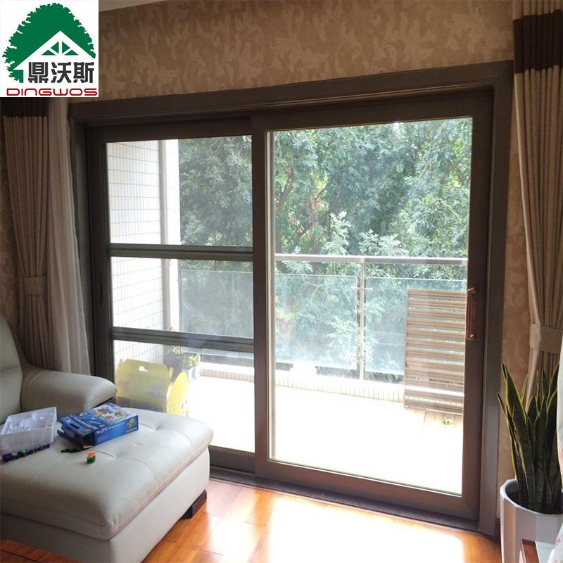 深圳门窗高端铝合金推拉门 客厅阳台重型移门 钢化玻璃阳台推拉门