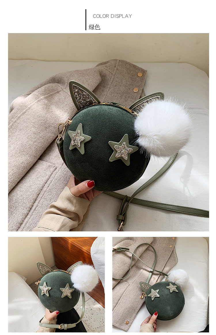 Korean version of the wild diagonal sanding sequins fashion small round package NHLD154024