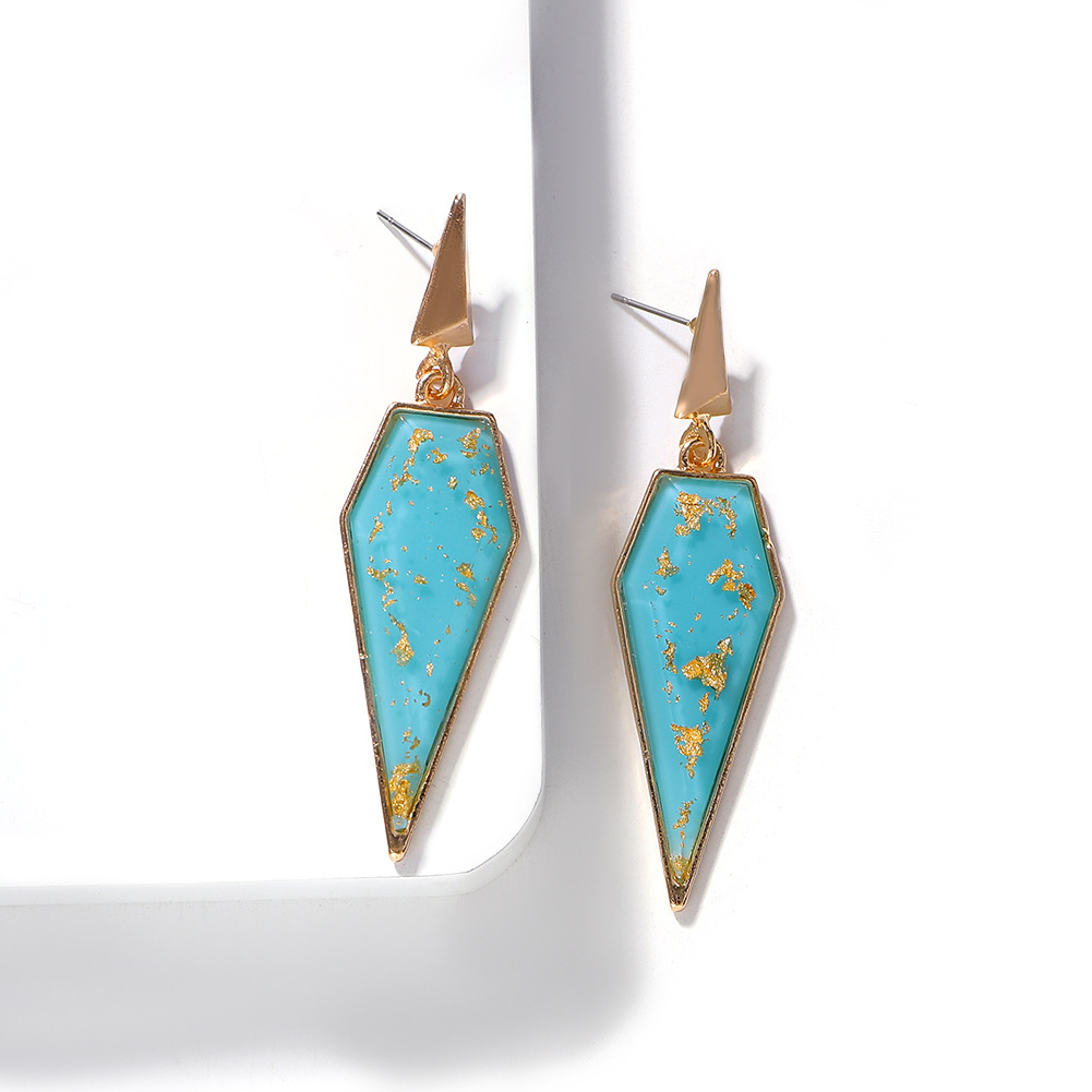 Fashion alloy resin geometric earrings simple earrings personalized earrings NHJQ176180