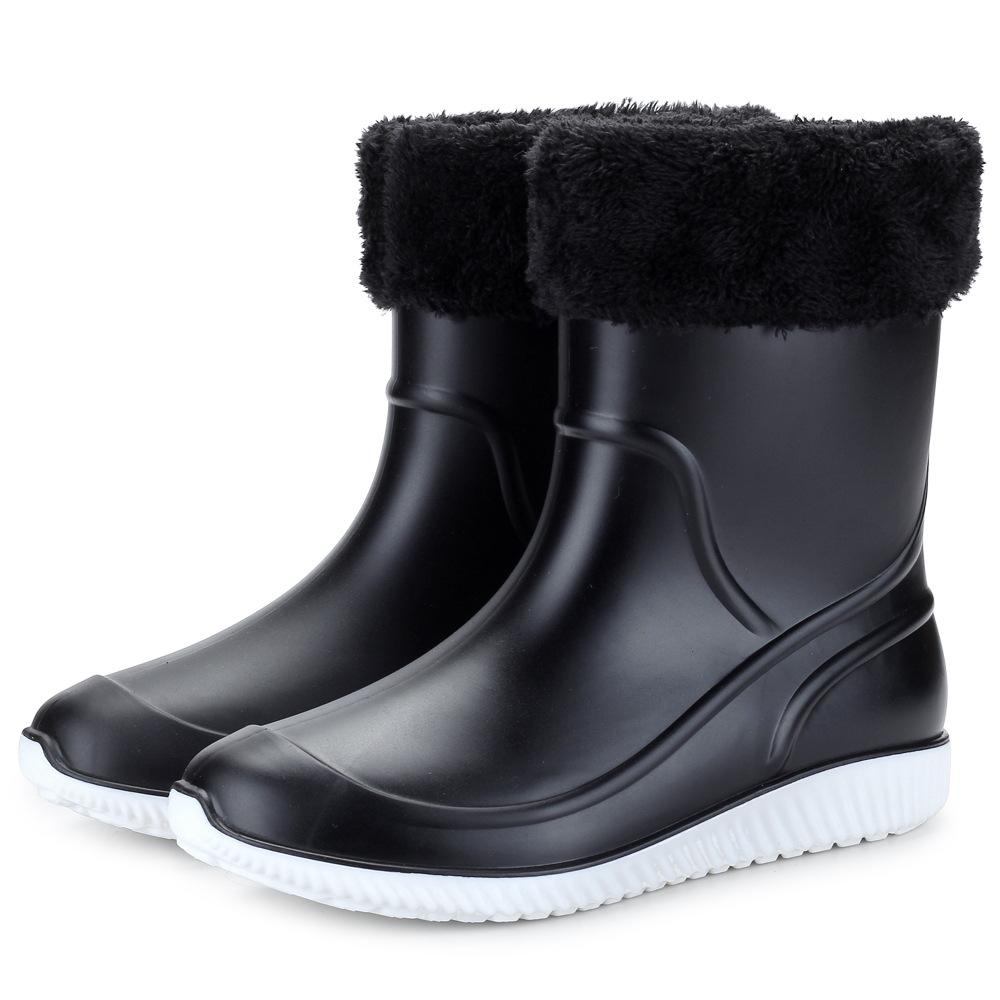 2020保暖加绒加厚雨鞋男士中筒加棉水鞋防滑防水雨靴钓鱼洗车水靴