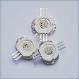 大功率rgb燈珠 集成15瓦led燈珠 带玻璃透镜 进口光宏45mil芯片