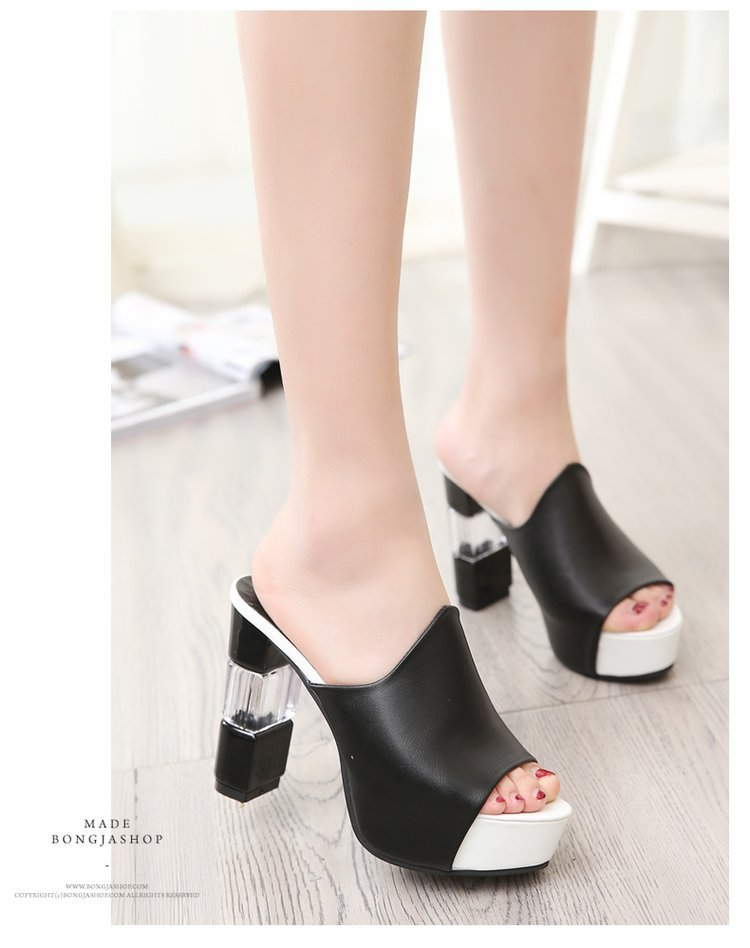 Summer fish mouth sandals female new thi...