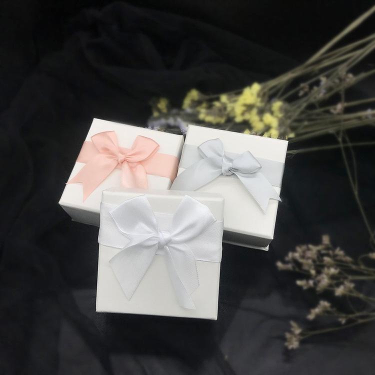定制蝴蝶结首饰盒 戒指盒珠宝盒 首饰包装盒戒指盒 手链盒
