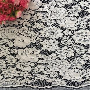 廠家直銷錦棉蕾絲面料 股線 時尚女裝連衣裙輔料 波浪邊蕾絲面料