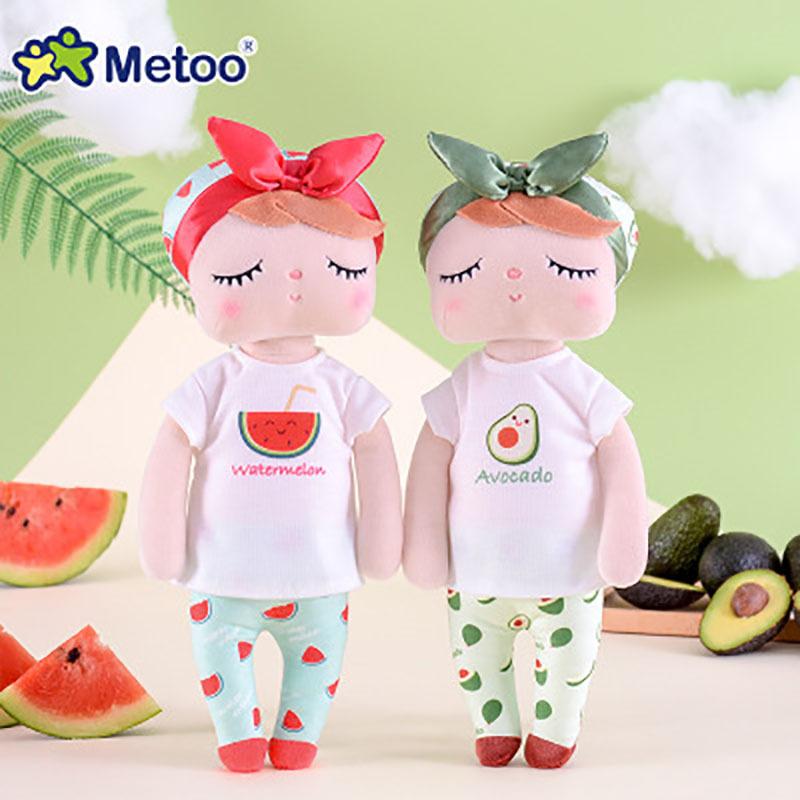 metoo咪兔安吉拉水果系列公仔娃娃玩偶儿童生日礼物毛绒玩具