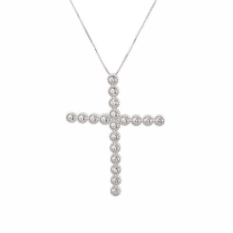 Copper Fashion Cross necklace  (Alloy plating)  Fine Jewelry NHBP0382-Alloy-plating