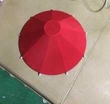 中式手绘布艺伞灯国画手绘雨伞吊灯新古典茶楼酒店会所工程吊灯
