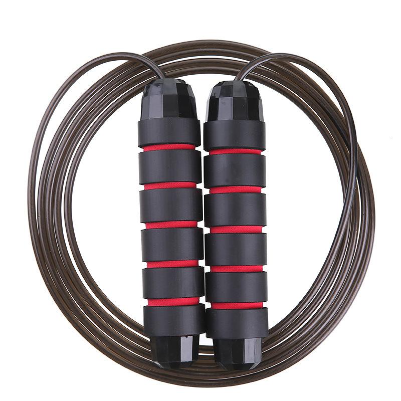健身减肥体能训练瑜伽瘦身运动体育锻炼菱形钢丝轴承跳绳小型器材