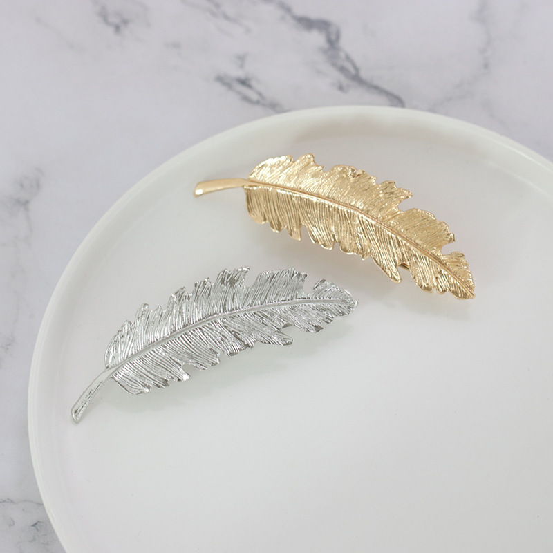 Womens Feather Plating Alloy hair clip NHJJ121664