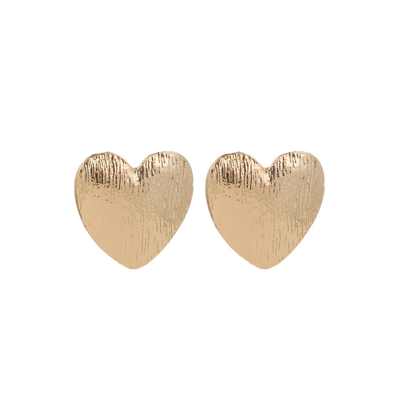 Vintage matte heart heart love earrings NHCU146551