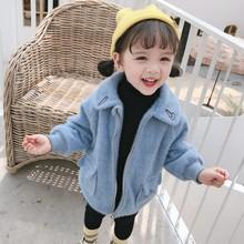婴儿小女童毛呢外套秋冬加绒加厚韩版洋气呢子1-3-4岁2女宝宝风衣