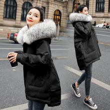 棉衣派克服女2019年冬季新款中長款 版寬松收腰棉服oversize女 韓