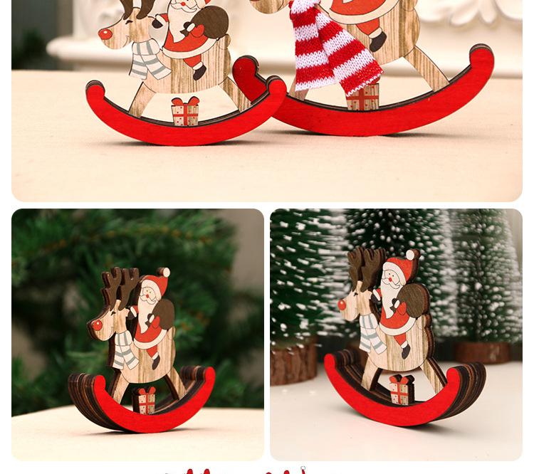 Christmas Decorations Christmas Wooden Swing Trojan Christmas Gifts Santa Claus Gifts Decoration NHMV176263