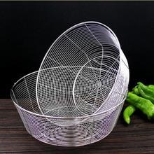 家用沥水篮不锈钢工艺水果篮蔬菜篮l漏水洗菜篮子圆形加厚清