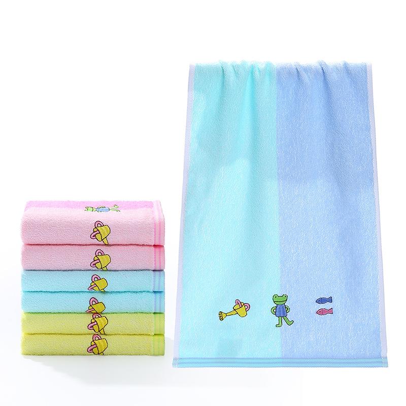 金号品牌全棉毛巾婴儿日用品小毛巾 宝宝小鱼儿童洗脸巾T1060H