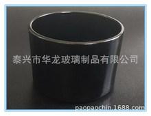 玻璃制品  玻璃烛杯   黑色玻璃烛杯  可定制