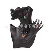 新款加手树脂侧身人像项链展示架耳环饰品架珠宝首饰收纳道具批发