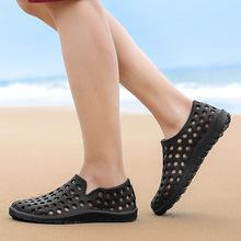 2019夏季新款情侣洞洞鞋男女休闲户外沙滩鞋防滑软底包头凉鞋跨境