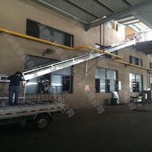 三楼卸货装车传送滑道 爬坡皮带输送机 传送带机器