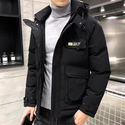 货源男士棉衣外套冬季韩版工装夹克ins潮羽绒棉服装2020新款加厚棉袄批发