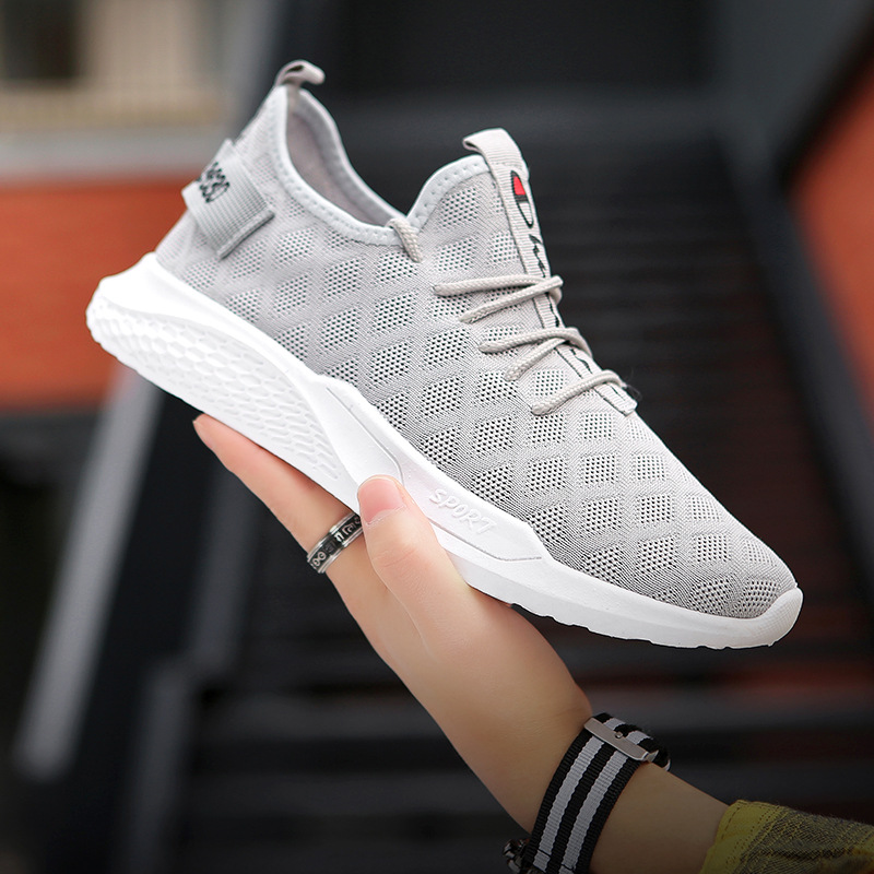 Spring 2019 new men's sports casual shoes men's fashion shoes versatile men's shoes flying mesh board shoes running shoes