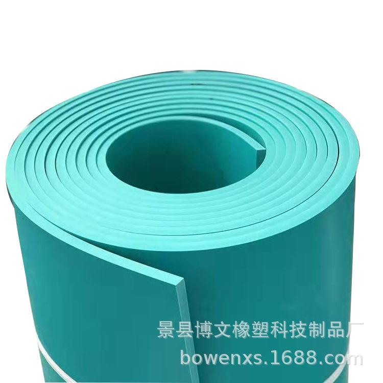 绿色pvc软板 环保阻燃防腐1.3米宽 5mm厚车间地面污水池防腐衬里