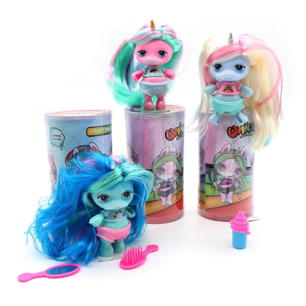 跨境植发娃娃史莱姆poopsie slime独角兽LOL惊喜娃娃娃娃玩具公仔