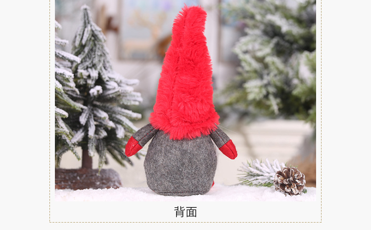 New Christmas Decorations Plush Forester Faceless Doll Decoration Old Man Doll Child Gift NHHB186122