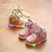 女寶寶單鞋1-2-3-4-5歲6小童春秋鞋軟底防滑女童鞋KT貓兒童學步鞋