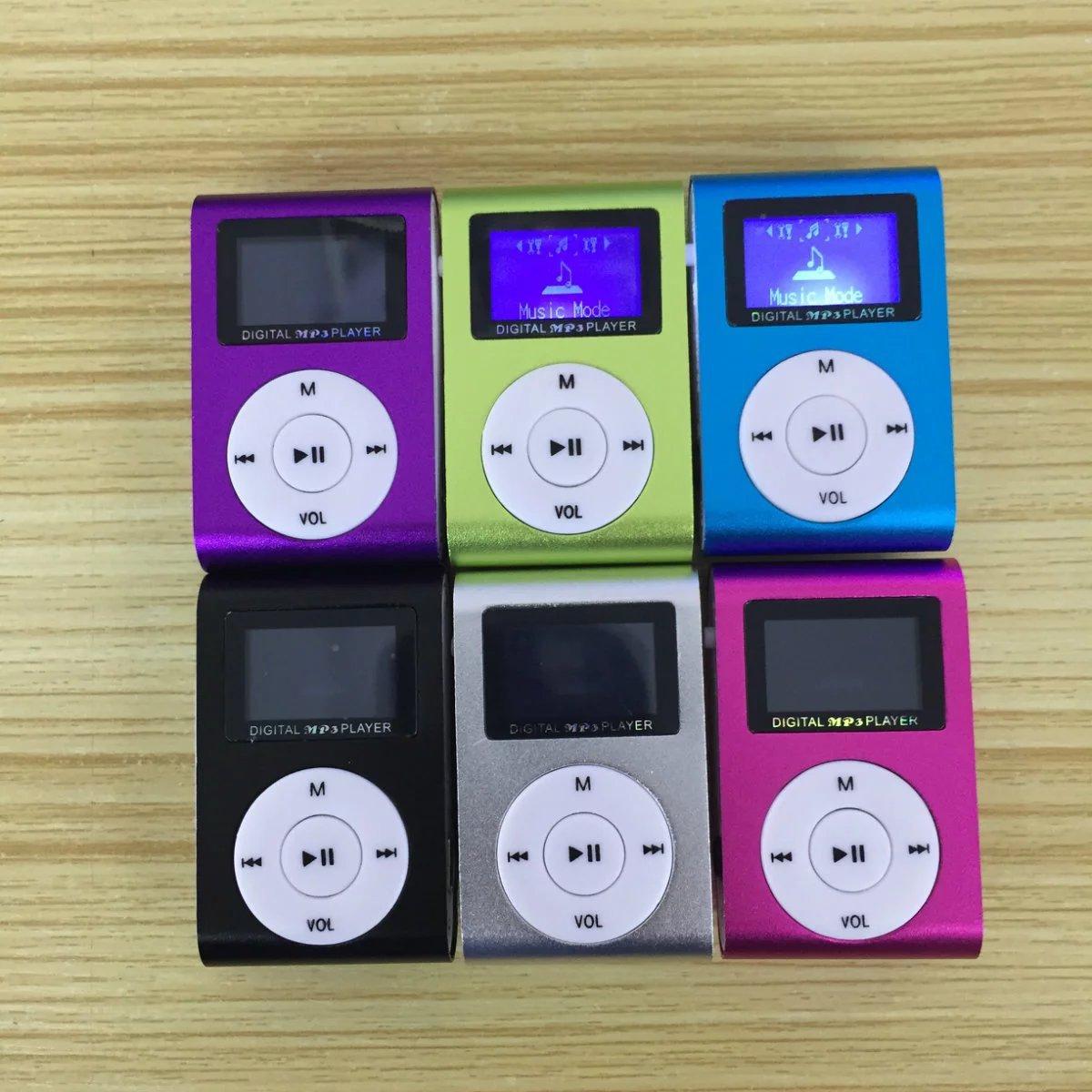 有屏夹子mp3播放器带屏金属小夹子MP3迷你运动带屏 不显示歌词名