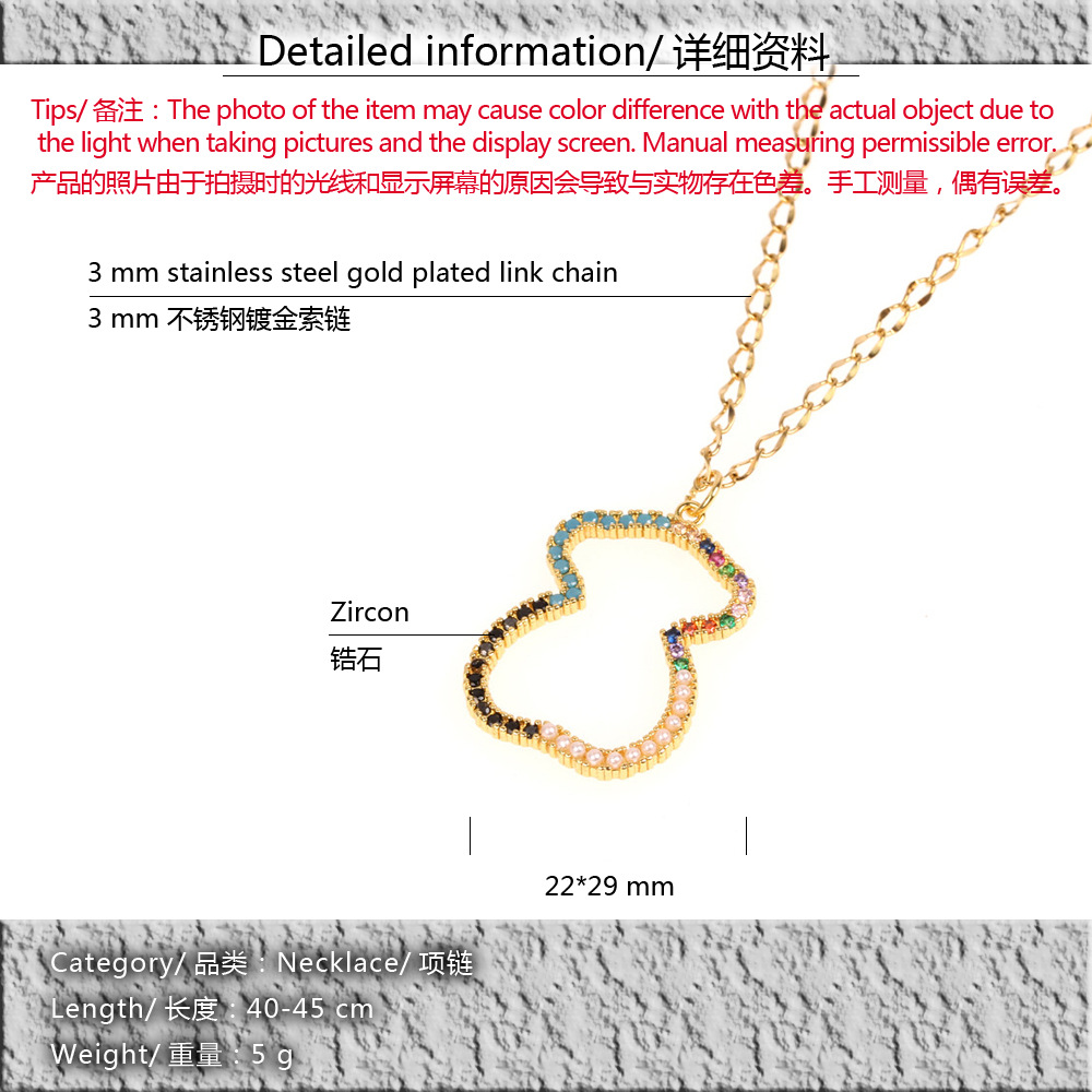 New Accessories Micro-encrusted Pearl Pearl Bear Pendant Necklace Fashion Creative 8-shaped Clavicle Chain NHPY196586